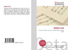 Buchcover von Adam List