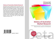Bookcover of History of Australian Market Research