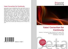 Bookcover of Yates' Correction for Continuity
