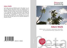 Bookcover of Adam Malik