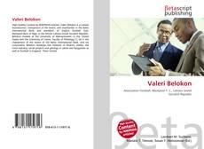 Capa do livro de Valeri Belokon