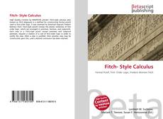 Bookcover of Fitch- Style Calculus