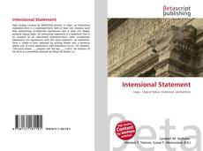 Buchcover von Intensional Statement