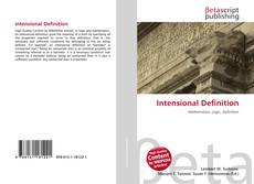 Bookcover of Intensional Definition