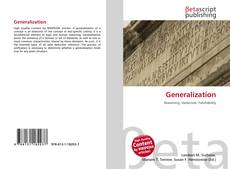 Portada del libro de Generalization