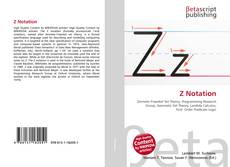 Bookcover of Z Notation