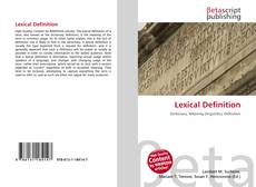 Bookcover of Lexical Definition
