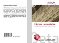 Intended Interpretation的封面