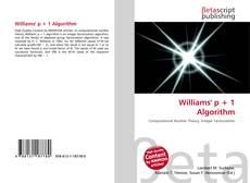 Bookcover of Williams' p + 1 Algorithm