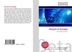 Обложка Racism in Europe