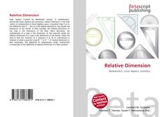 Couverture de Relative Dimension