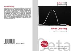 Bookcover of Weak Coloring