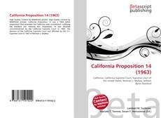Bookcover of California Proposition 14 (1963)