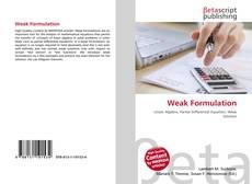 Bookcover of Weak Formulation