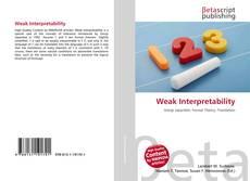 Bookcover of Weak Interpretability