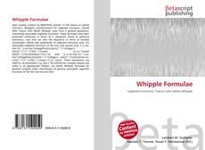 Обложка Whipple Formulae