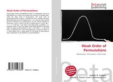 Bookcover of Weak Order of Permutations