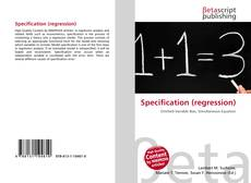 Bookcover of Specification (regression)