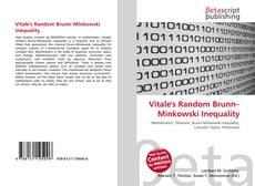 Bookcover of Vitale's Random Brunn–Minkowski Inequality