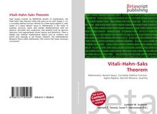 Bookcover of Vitali–Hahn–Saks Theorem