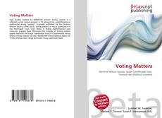 Bookcover of Voting Matters
