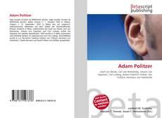 Buchcover von Adam Politzer