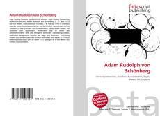 Обложка Adam Rudolph von Schönberg