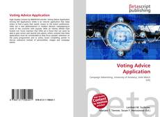 Portada del libro de Voting Advice Application