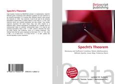 Bookcover of Specht's Theorem