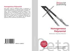 Bookcover of Homogeneous Polynomial