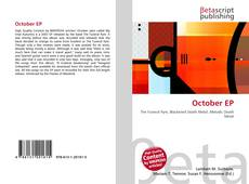 Bookcover of October EP