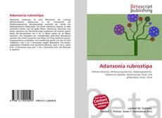 Couverture de Adansonia rubrostipa