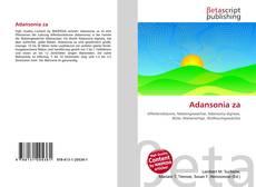Couverture de Adansonia za