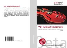 Vox (Musical Equipment) kitap kapağı