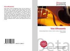 Portada del libro de Vox Ultrasonic