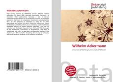 Bookcover of Wilhelm Ackermann