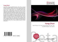 Yang Chun kitap kapağı