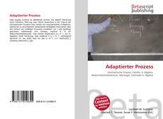 Capa do livro de Adaptierter Prozess