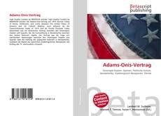 Buchcover von Adams-Onís-Vertrag