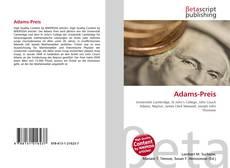 Buchcover von Adams-Preis