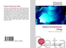 Copertina di Notice of Electronic Filing