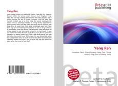 Buchcover von Yang Ren