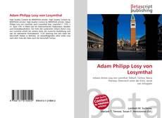 Adam Philipp Losy von Losymthal kitap kapağı