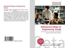 Bookcover of Walchand College of Engineering, Sangli