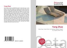 Bookcover of Yang Zhao
