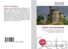 Обложка Adam von Auersperg
