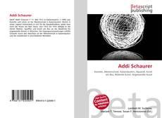 Buchcover von Addi Schaurer