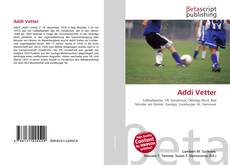 Buchcover von Addi Vetter