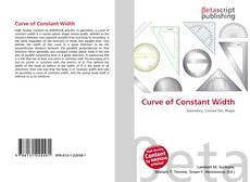 Bookcover of Curve of Constant Width