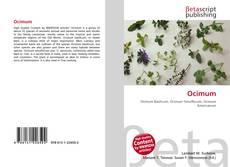 Bookcover of Ocimum